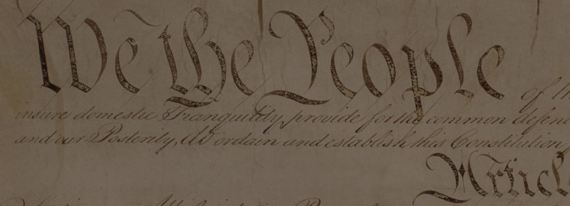 """We the People"" preamble to the US Constitution"