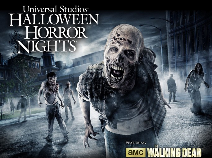 universal studios halloween horror nights poster zombies walking through a dark and hazy - Halloween Universal Studios Tickets