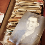 old letters and a photo