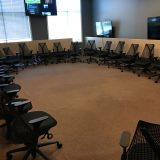 Chairs in large round circle