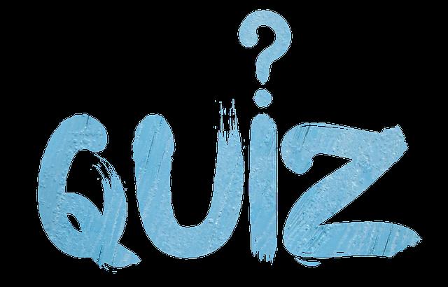 Decorative image with word quiz