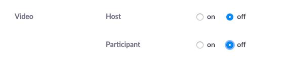 participant video scheduling box