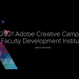 Adobe Creative Campus Faculty Development Institute