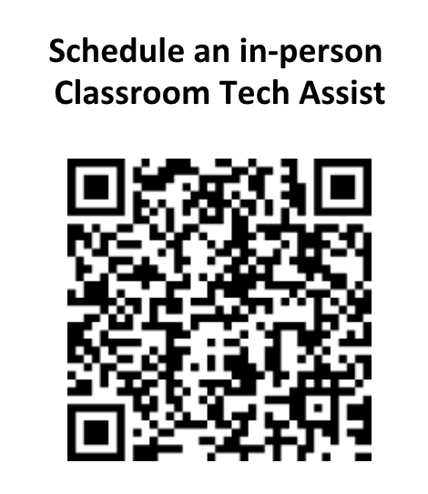 QR code linking to Tech Assist site