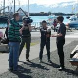 +Crew filming