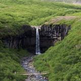 Bridge, waterfall, postpiles