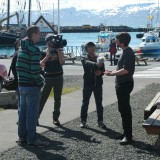 Crew filming