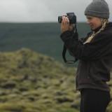 Female filming