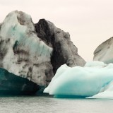 Icebergs, dirty and clean