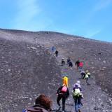 Students climbing sand mtn
