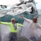 students, ponchos, icebergs