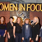 Dawn Taubin, left, moderated the panel discussion Women in Comedy featuring, from Taubin's left, Maya Rudolph, Diablo Cody, Anne Fletcher, Nancy Meyers, Penelope Spheeris and Donna Langley. Together, the work of the women on the panel has earned more than $2 billion at the box office.