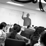 Michael Hudson-Medina '00 conducts the Boyle Heights Youth Orchestra, which he founded. by Leslie Miranda Photography