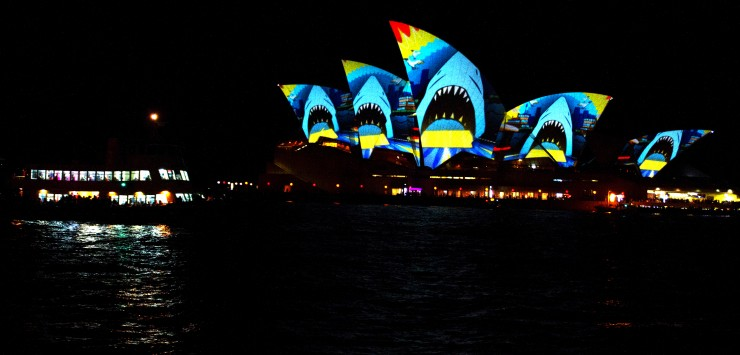 Vivid Sydney takes over the city after dark.