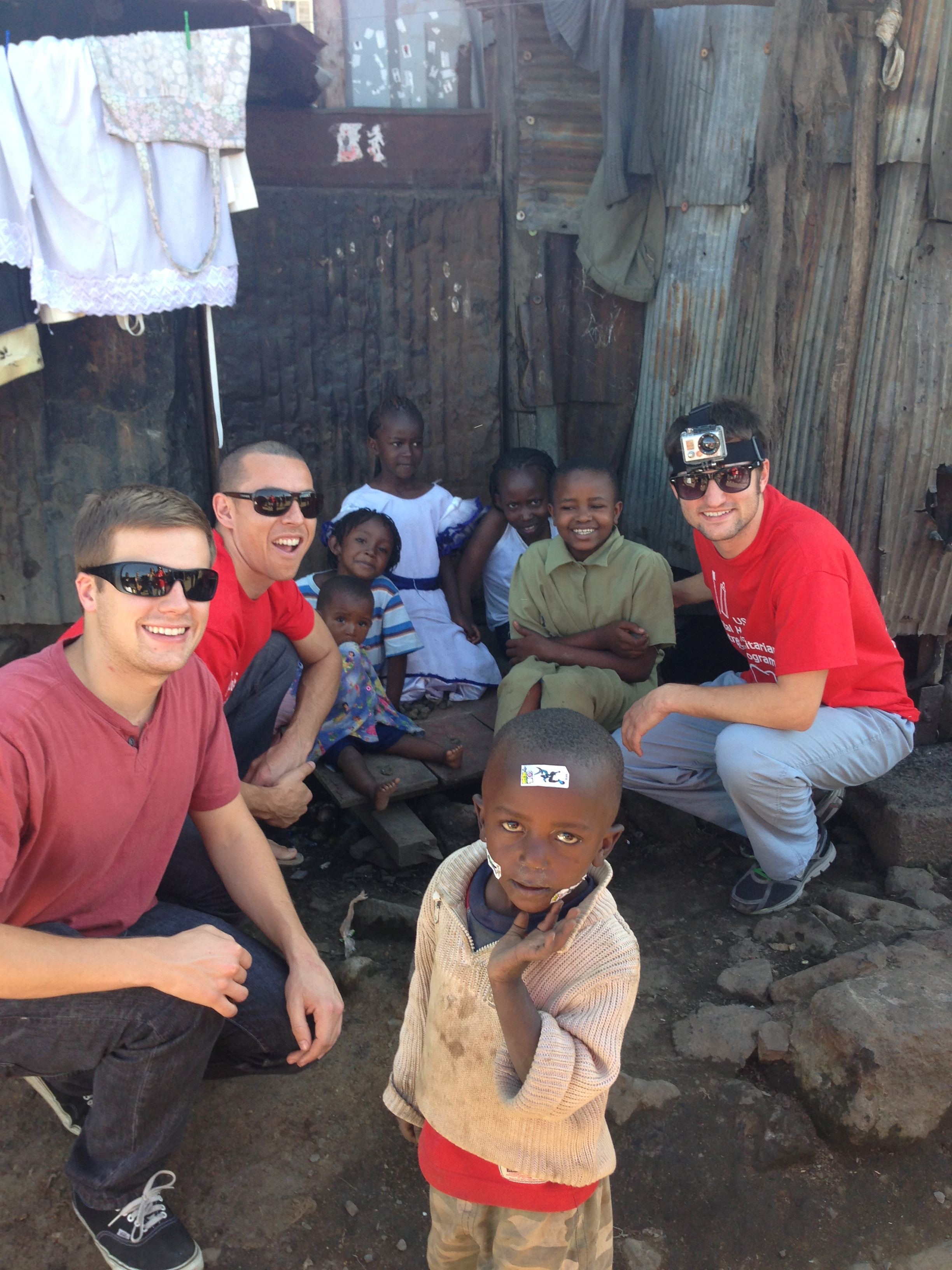 Sean Vreeburg (left) in Methare Slums.