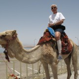 Henley on a camel.