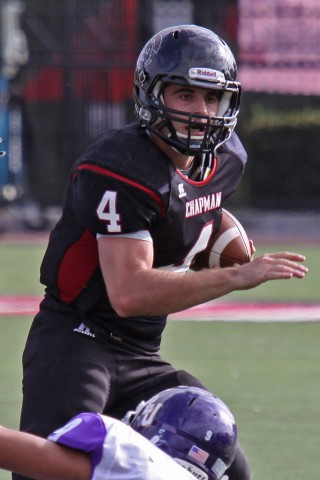Chapman quarterback Michael Lahey '15 led the nation in completion percentage as the Panthers averaged 45 points a game.