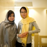 After their year of graduate law study at Chapman, lawyers Munira Akhundzada, left, and Shamsi Maqsoudi plan to resume their work at the front lines of the struggle for women's rights in Afghanistan.