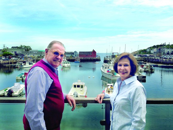 Dale '58 and Ann Fowler are at home on the coast of Massachusetts.