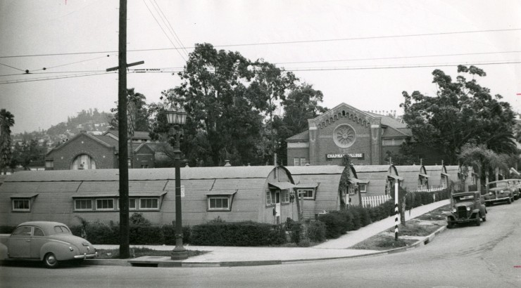 black and white photo of buildings