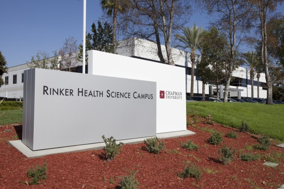sign that says rinker health science campus