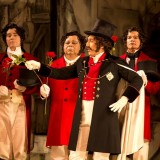 Alumni Efrain Solis'11 as Dandini in La Cenerentola, the operatic version of Cinderella.