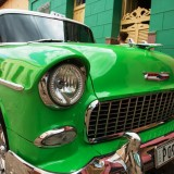 A bright green Chevy in Cuba.