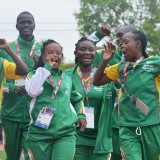 Senegal runners gesture