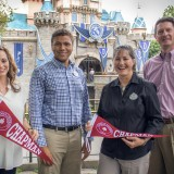 group of chapman alumni smiling at Disneyland Resort