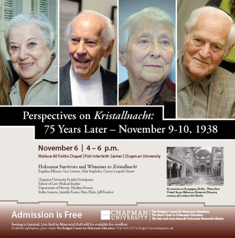 flyer for November 7 event