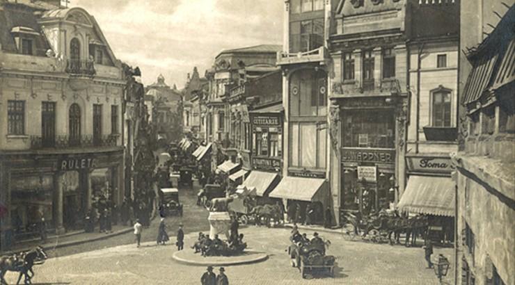Historic image of Bucharest, World War II