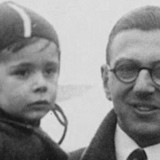 young Nicholas Winton with rescued child (header)