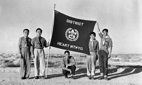 Historic photo of Heart Mountain student