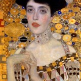 Woman in Gold Klimt Portrait