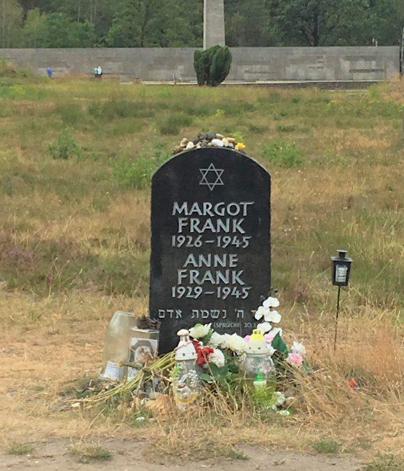 Anne Frank's headstone at Bergen-Belsen