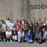 Group photo of the participants in the Bergen-Belsen Memorial Institute.