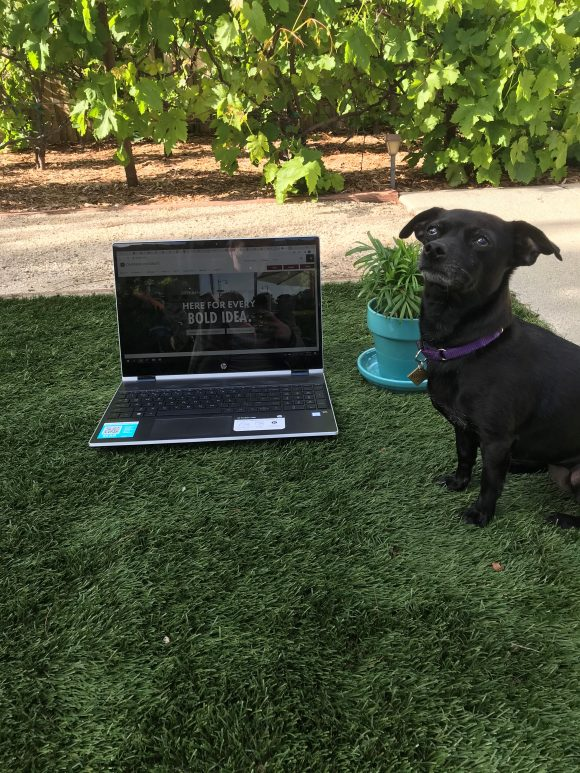 an outdoor work environment