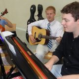 Pianist and Guitarist playing