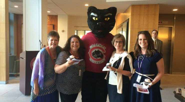 Four Women and a Panther Mascott