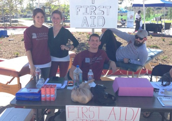 DPT students table to give back to the community