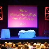 DPT White Coat Ceremony stage