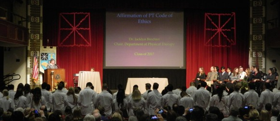 DPT White Coat Ceremony stage