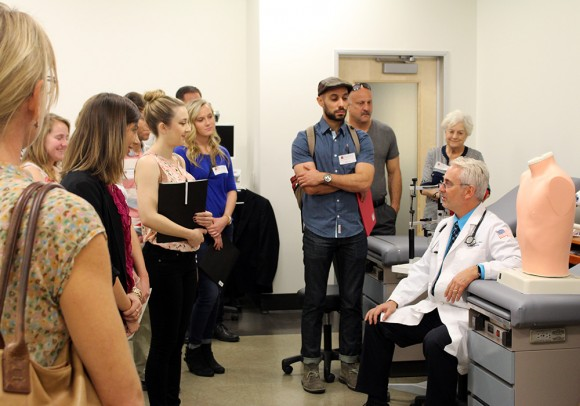 Chapman professor's lead a tour for Graduate school information.
