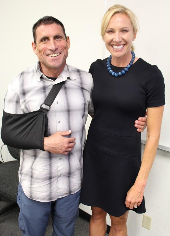 Dotsie Bausch and Dr. Erik Sternlicht