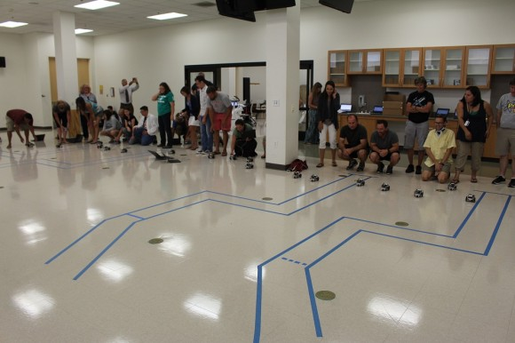 Middle and High School Teachers Race Robots for the Chapman Anaheim Science Project