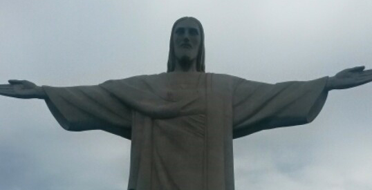 Statue of Christ the Redeemer in Brazil.