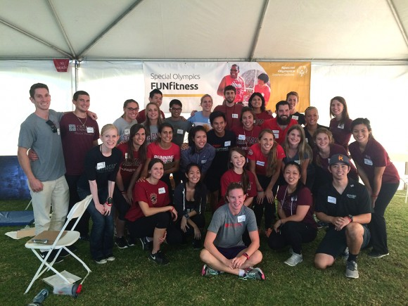 Crean College students help out with the Special Olympics Fall Games