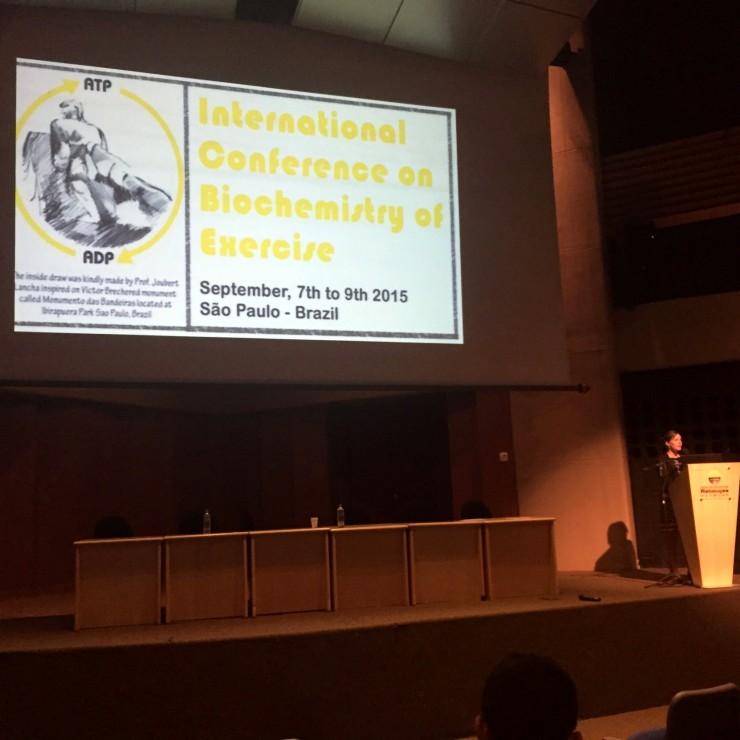 Marcia Abbott presents her research in Brazil.
