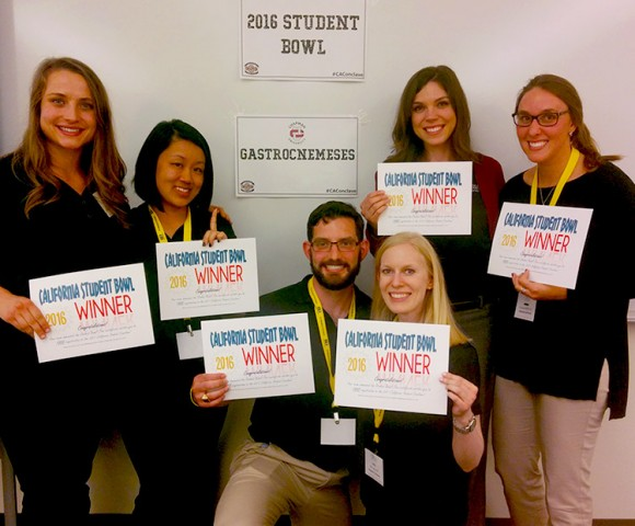Physical Therapy Team Wins 2016 California PT Student Bowl