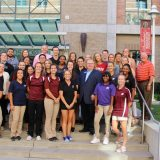 NATA President with Chapman University AT Masters Students and Faculty